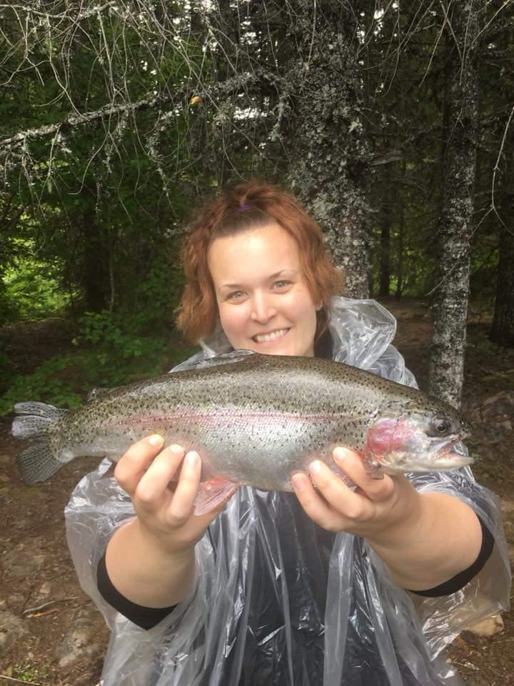 Danielle Flippo landed a trophy Rainbow.
