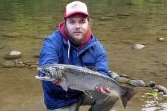 10 lb Coho salmon.
